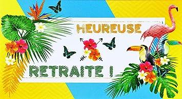 carte de départ en retraite afie 69 4219 Carte Départ Retraite Paillettes Flamant Rose Toucan