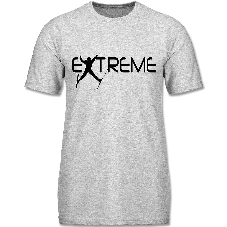 Wintersport - Ski Extreme - kurzärmeliges Rundhalsausschnitt T-Shirt für Herren, Valueweight T