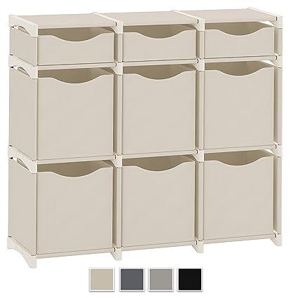 Neaterize 9 Cube Organizer Set Of Storage Cubes Included Diy Cubby Organizer Bins Cube Shelves Ladder Storage Unit Shelf Closet Organizer For