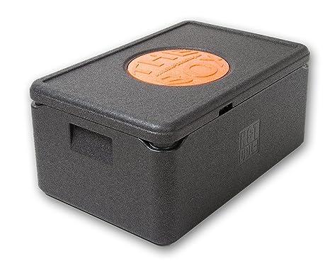 THE BOX Thermobox GN 1/1 groß, Art. 79881; Deckelfarbe: schwarz, Außenmaß 60 x 40 x 27,5 cm, Innenmaß 54 x 34 x 21 cm, Nutzhö