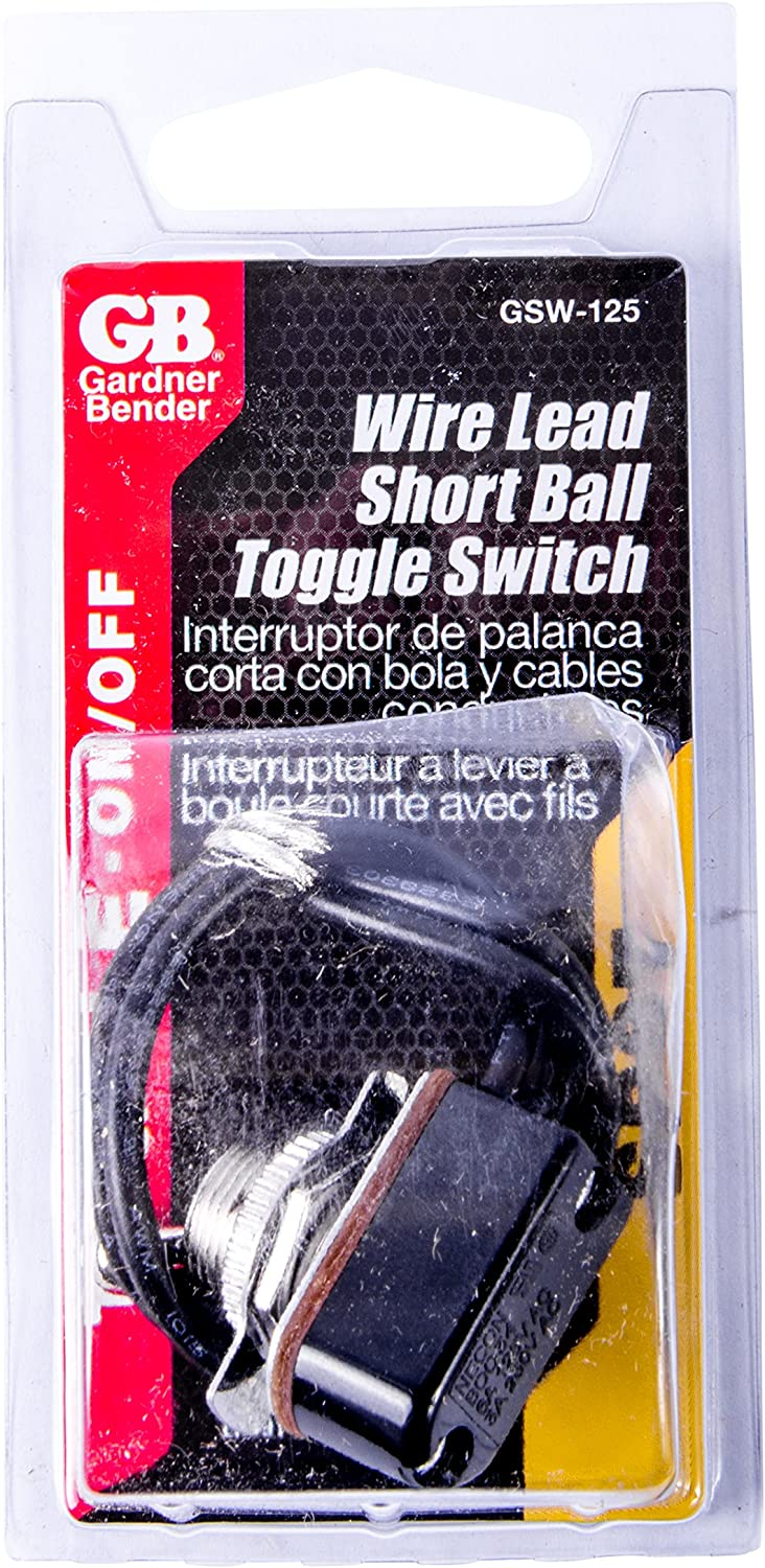 Toggle Switch GSW 125 SPST ON//OFF Electric Equipment Applications 6 inch Wire