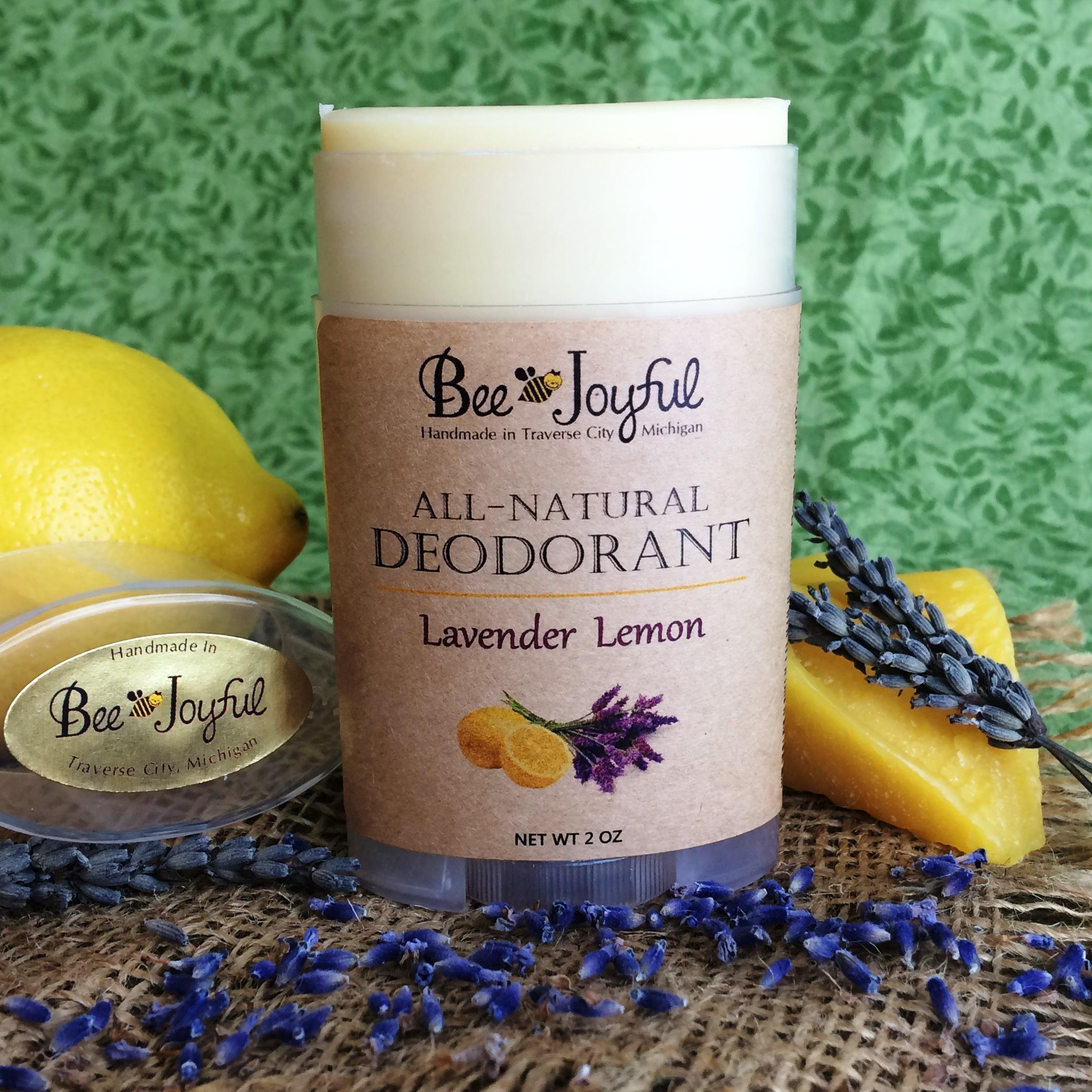 Bee Joyful Deodorant - Lavender Lemon - All-Natural