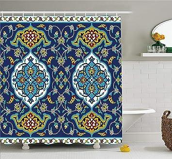 Taie d\'oreiller marocain Rideau de douche, authentique Oriental avec ...