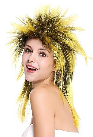 WIG ME UP ® - 90891-ZA2BTZA103 Peluca Mujer Hombre Carnaval Halloween años 80 Punk