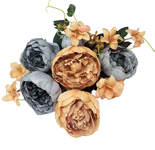 10Pcs Artificial Peony Flower Heads  Floral Fake Bouquet Wedding Birthday Party