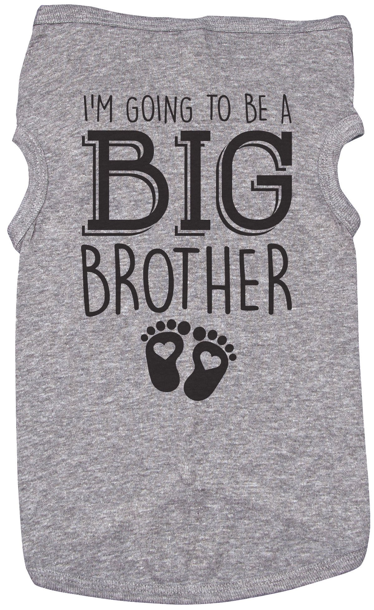 Big Brother Shirt for Dogs/I'm Going to BE A Big Brother/Puppy Shirt (XL, Grey)