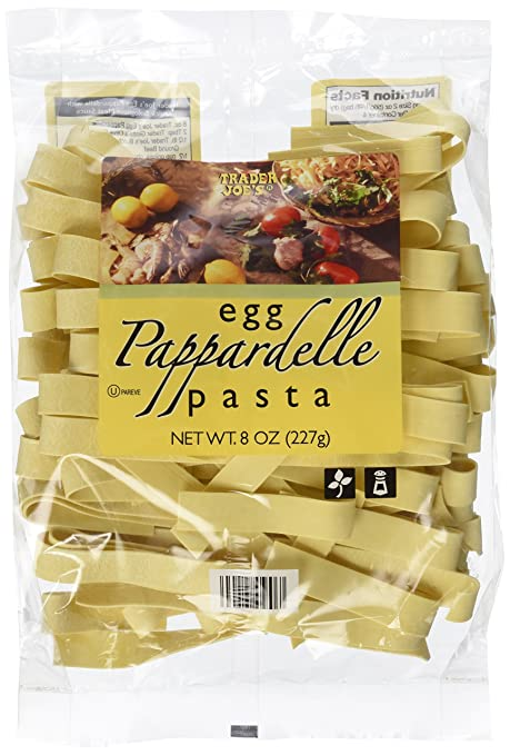 amazon com trader joe s egg pappardelle pasta grocery gourmet food