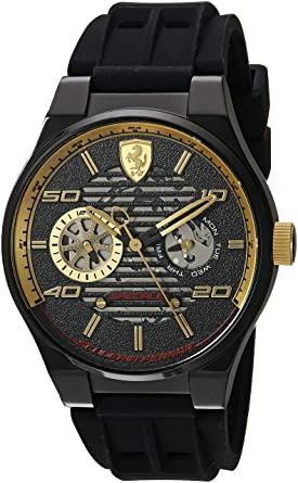 40b479f1198 Image Unavailable. Image not available for. Color  Ferrari Men s Speciale  Multi Stainless Steel Quartz Watch with Silicone Strap