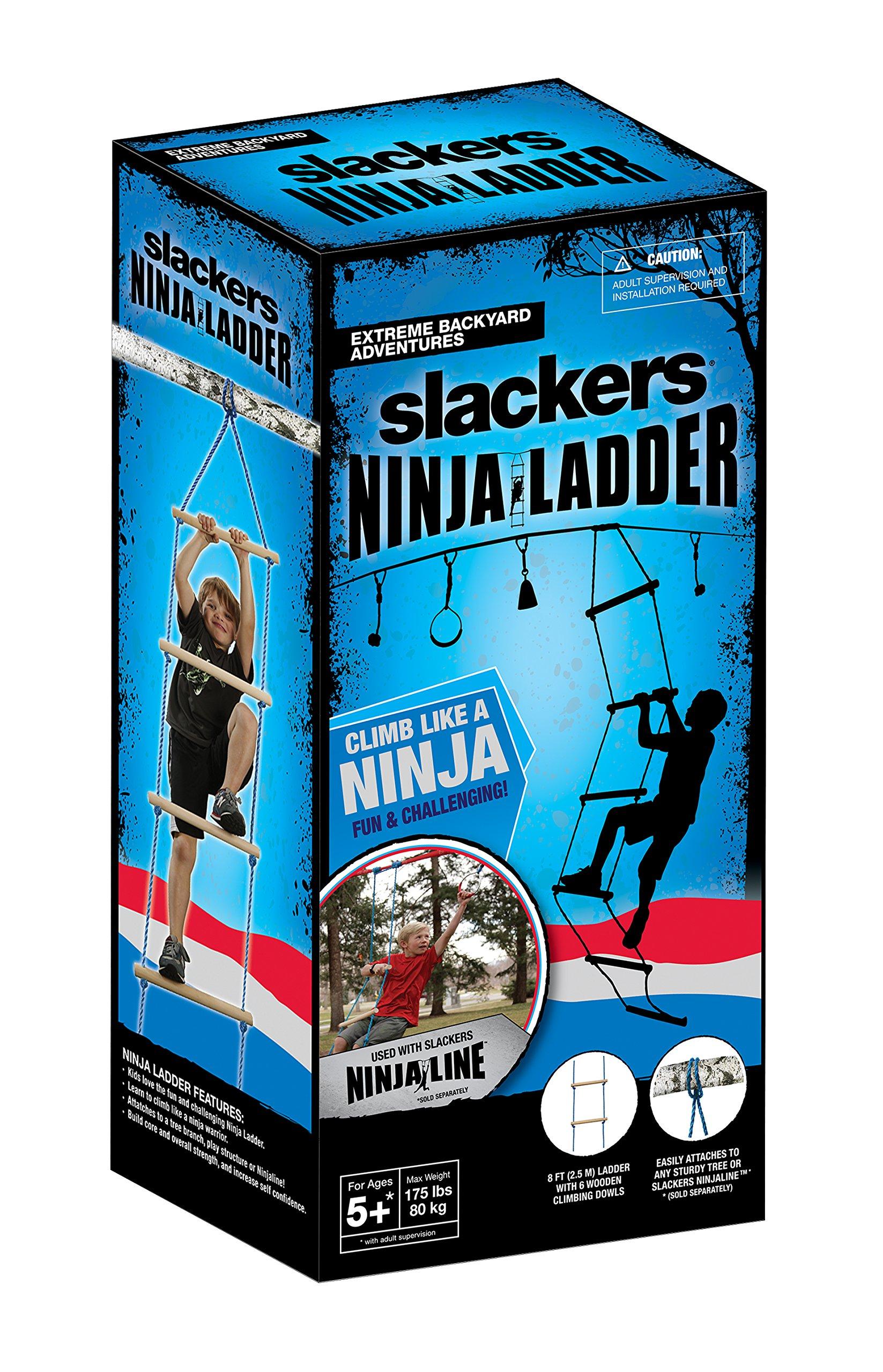 Slackers NinjaLine Rope Ladder, Blue, 8' by Slackers (Image #4)