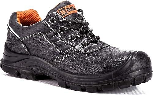 Black Hammer Chaussure de Sécurité S3 SRC Composite Protection Non métallique sans métal Baskets Hommes Chaussures de Travail et randonnée 2252