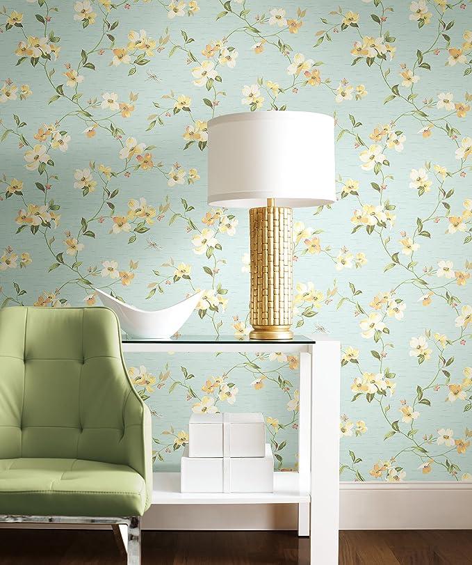 Dogwood Tree Floral Blooms Wallpaper Ashford House York Wallcoverings GE9550