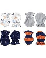 Gerber Baby Boys' 4 Pack Mittens