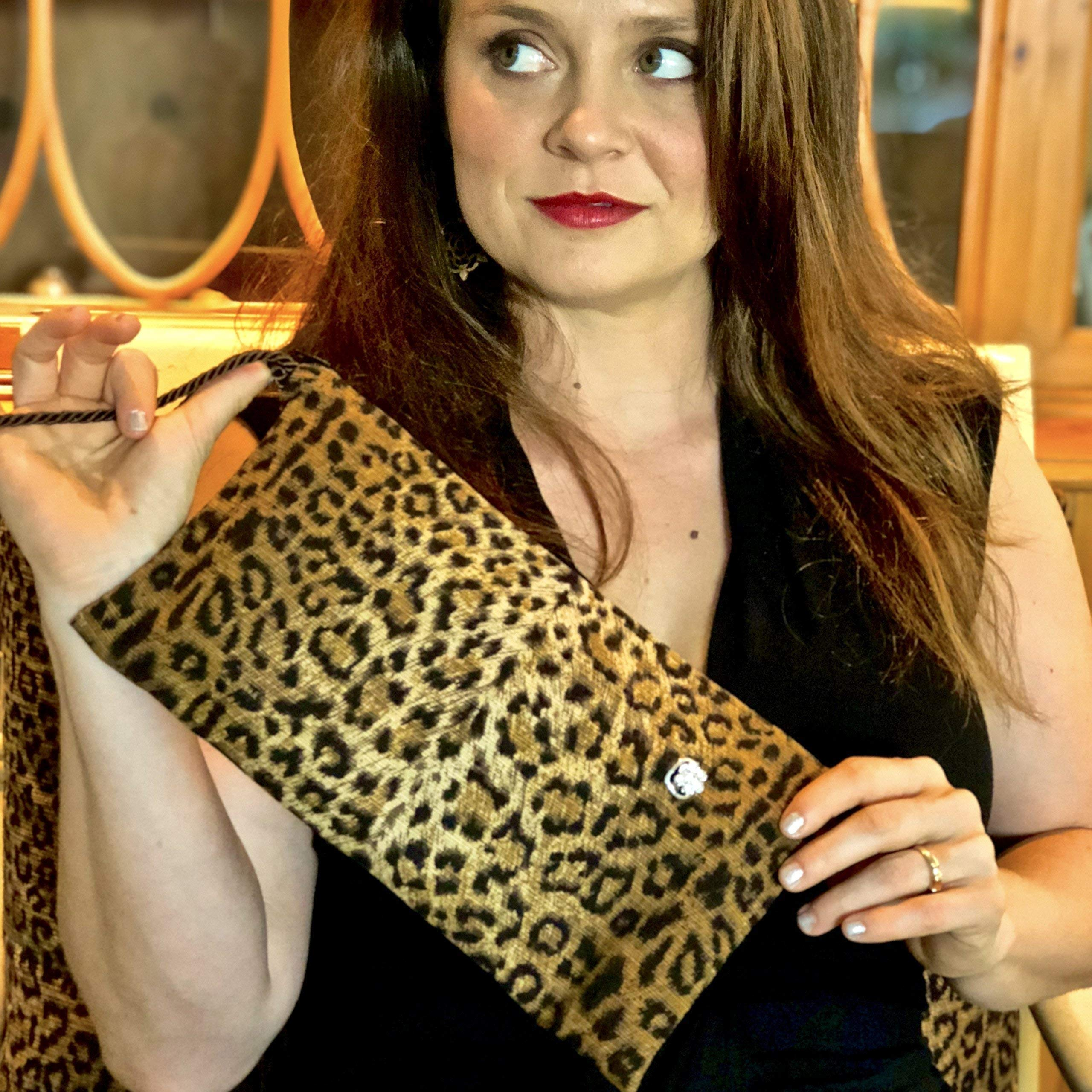 Vegan Leopard Clutch - NO RULES COLLECTION by Palm Beach Purses