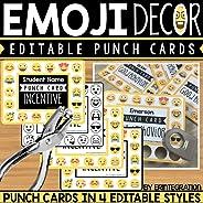 Emoji Punch Cards – 4 Styles (Editable)
