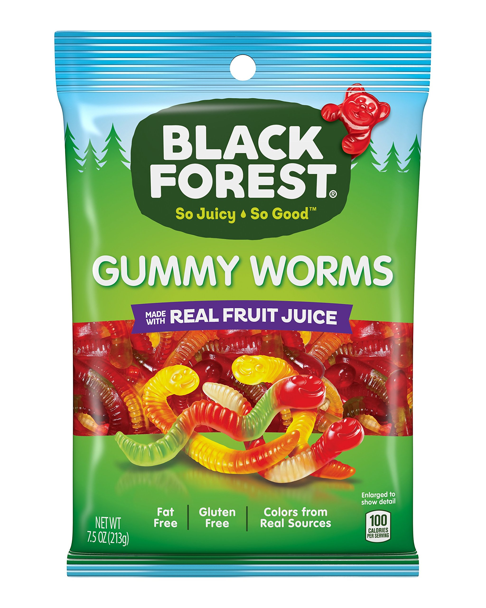 Black Forest Gummy Candy, Worms, Cherry, Orange, Apple, Lemon and Pineapple, 7.5 Ounce (Pack of 8)