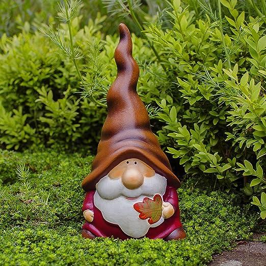 Gardens2you Monty le nain de jardin joyeux avec son bonnet orange ...
