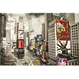 1art1 51481 Nueva York - Póster de Times Square con anuncios y taxis (91 x 61 cm)