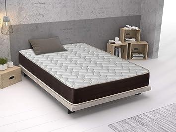 Imperial Confort Paris - Colchón viscoelástico - 110 x 180 x 21 cm - Color blanco: Amazon.es: Hogar