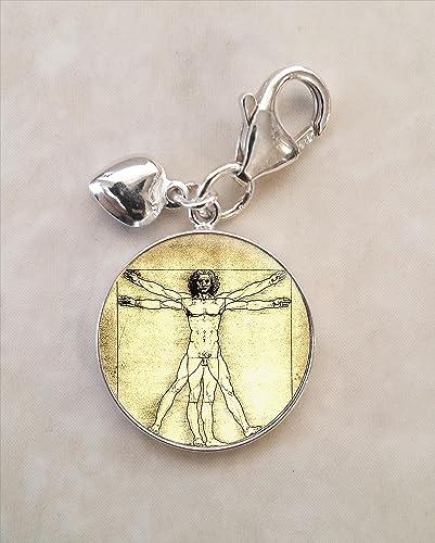 Amazon Vitruvian Man Leonardo Da Vinci Symbol 925 Sterling