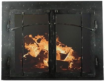 Amazon Ironhaus Csd4 Hnt 4129 Iron Fireplace Glass Door With