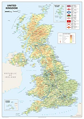 united kingdom of great britain and northern ireland map a2 size 42 x 594 cm