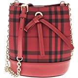 Burberry Women's Baby Bucket Bag in Overdyed Horseferry Check Red