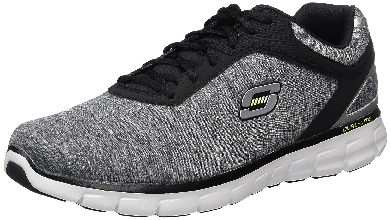 Skechers Synergy Instant Reaction 51189 LGBK - Zapatillas de lona para hombre 48.5 EU|Gris (Light Gray/Black)