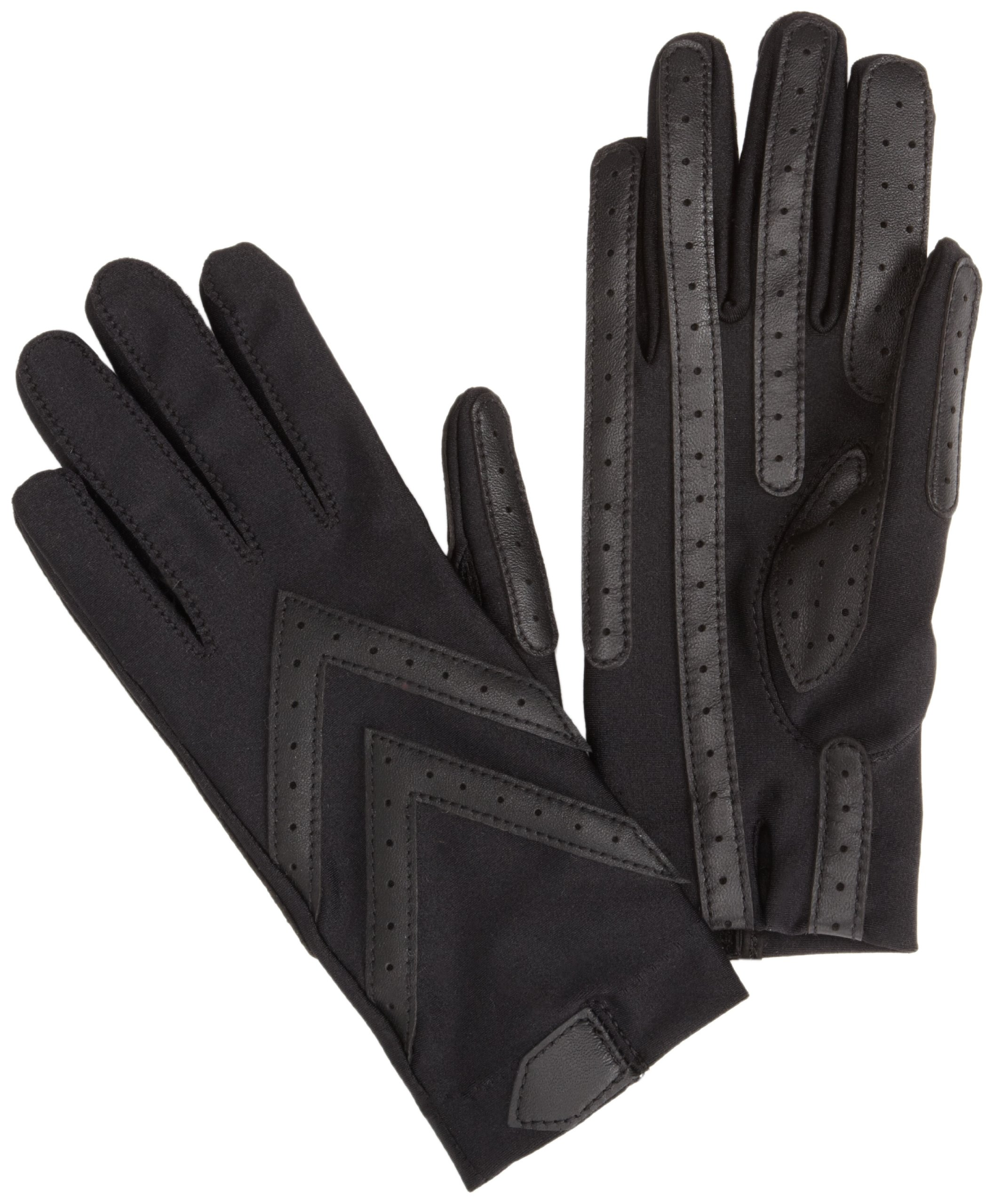 Isotoner Women's Spandex Shortie Unlined Glove,Black,One Size