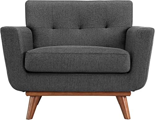 Modway Engage Mid-Century Modern Upholstered Fabric Accent Arm Lounge Chair