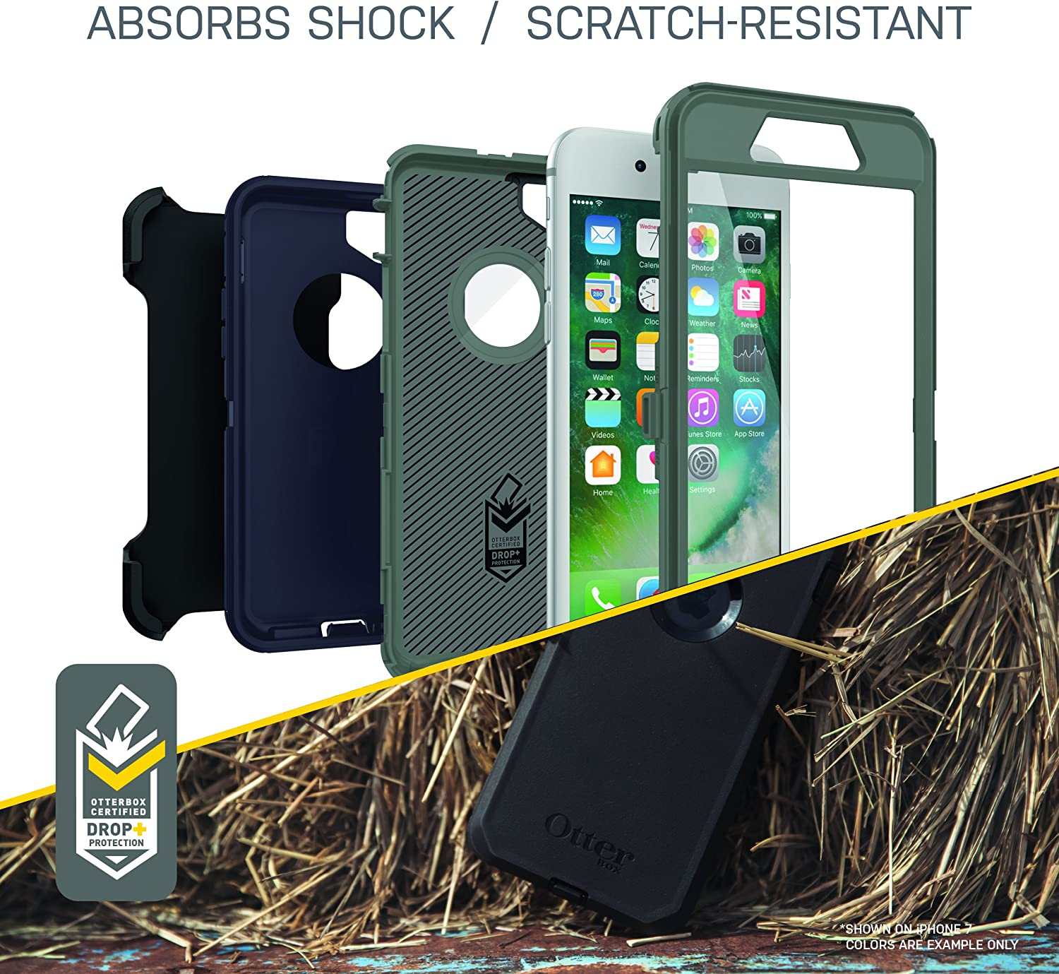 Black 2nd gen - 2020 Black /& Defender Series Case for iPhone SE NOT Plus Otterbox Defender Series Case for iPhone 8 Plus /& iPhone 7 Plus - Frustration Free Packaging and iPhone 8//7