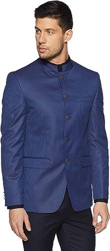 Peter England Men's Notch Lapel Slim Fit Blazer Men's Suits & Blazers at amazon