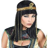 WIDMANN Srl peluca Buena suerte de Egipto con cinta para cabeza serpiente con Cuentas de mujer Adultos, Multicolor…