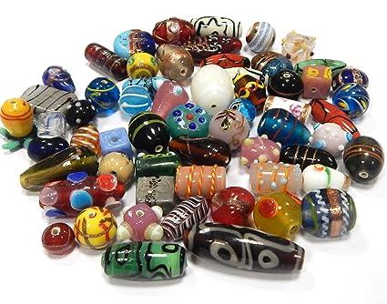 90 Dunkelblau+Grau Glasperlen Glasschliffperlen Beads Kugeln zum Basteln 8mm LP