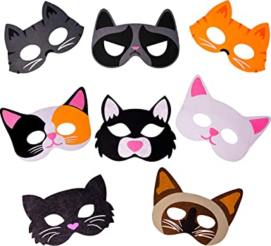 Amazon.com: Máscaras de gato, para gatos, suministros de ...