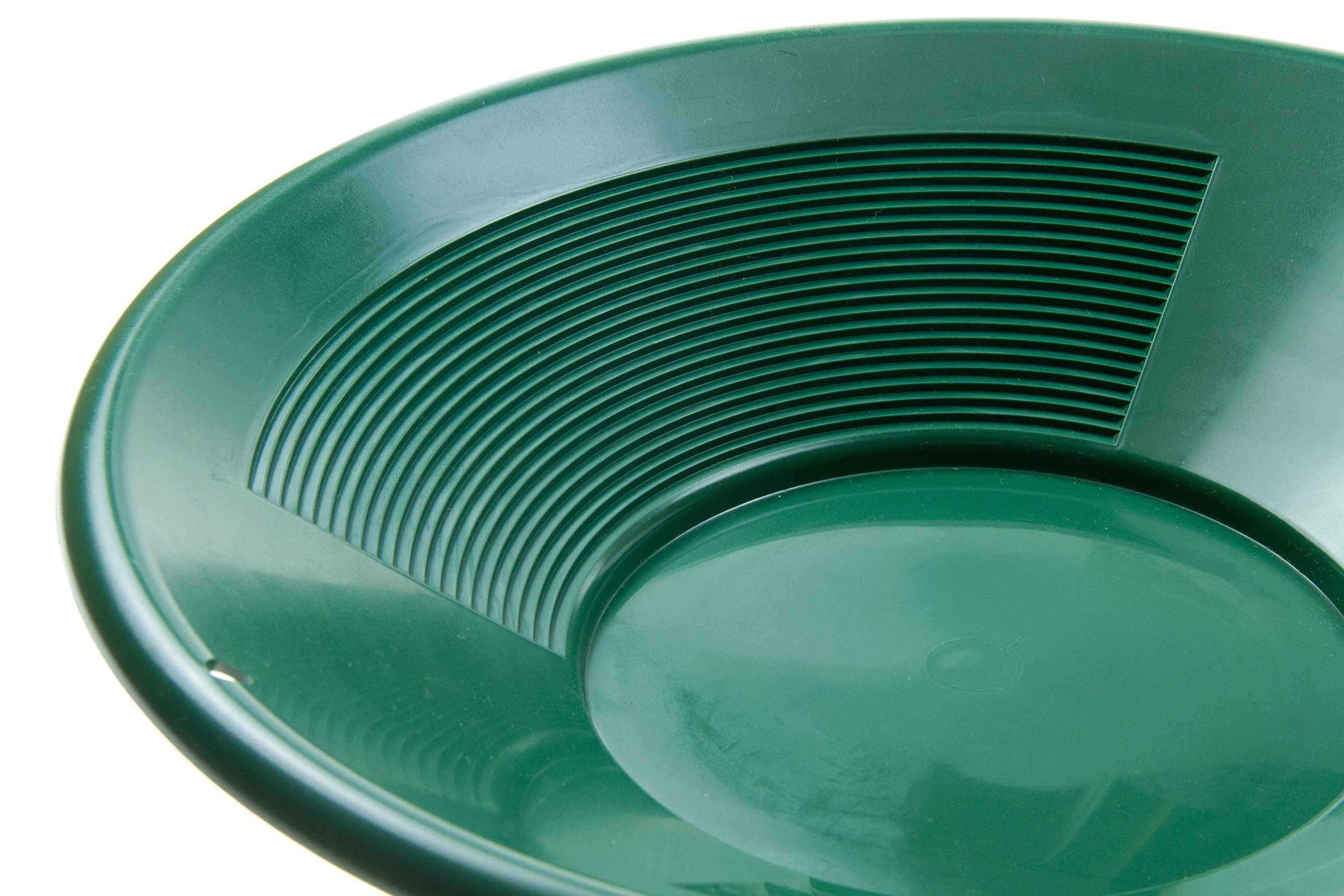 SE GP1014G14 14'' Green Plastic Gold Pan with Two Types of Riffles by SE (Image #4)