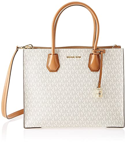 13710ab4d820 Image Unavailable. Image not available for. Color: MICHAEL Michael Kors  Mercer Large Logo Bag ...