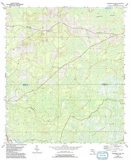 Amazon.com: Florida Maps | 1955 Greenville, FL USGS Historical ...