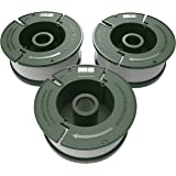 "Quickload 0.065"" Replacement Autofeed Spool 3-Pack (Compatible with AF-100 / BLACK and DECKER String Trimmers)"
