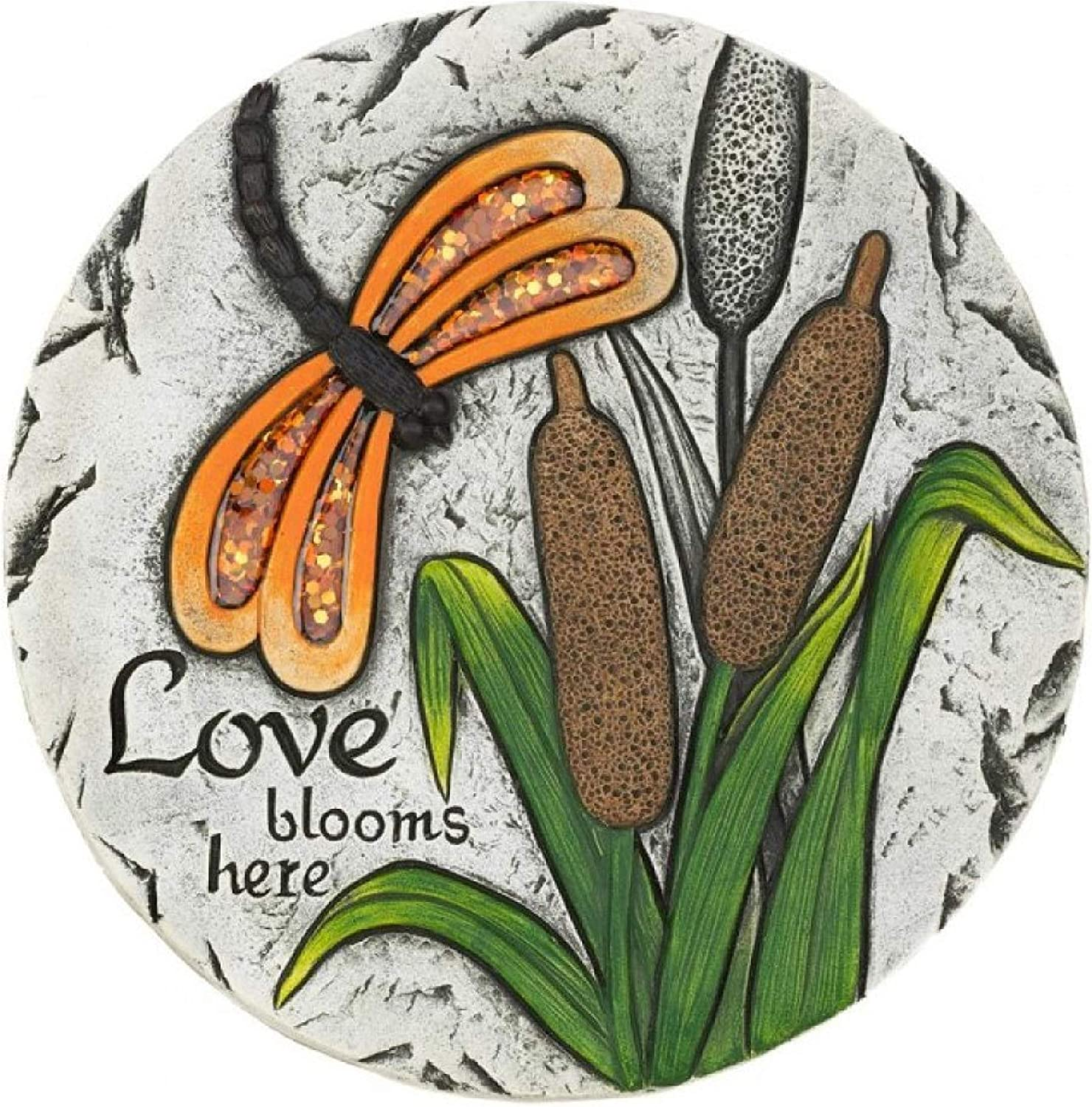 Garden Decor, Love Blooms Here Stepping Stone
