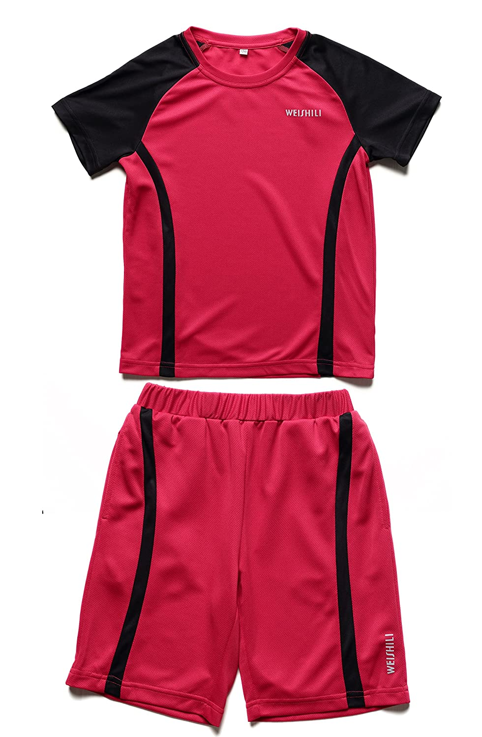 WEISHILI Football Shirt and Short Set Children (3 Colors to Choose: Blue, Cornflower Blue, Red)