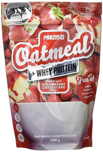 Prozis Oatmeal, Tarta de Queso con Fresas - 400 gr