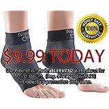 NatraCure Plantar Fasciitis Socks - Compression Foot, Ankle, Heel Sleeves - (Choose Size: S, M, L, XL)