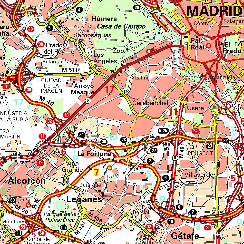 Mapa Zoom Madrid y alrededores (Mapas Zoom Michelin): Amazon.es: Vv.Aa, Vv.Aa: Libros