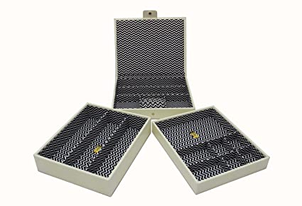 Cordays Joyero Apilable artesanal: Set de tres bandejas apilables en calidad superior: Edición Limitada