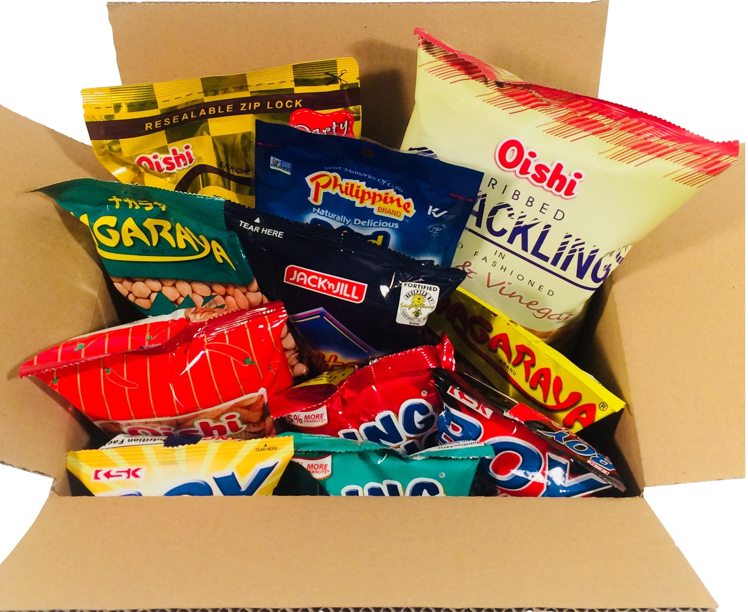 Balikbayan Snacks Box- Variety Assortment of Classic Filipino Snacks (9 counts Total) by World Food Mission