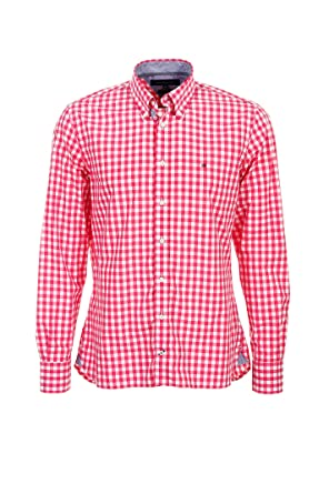 Tommy Hifliger Herren Hemd Brian red check SALE Größe XL, Farbe Red Checked