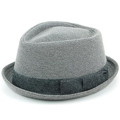 8864d3aafe8 Hawkins Grey Cotton Porkpie Hat  Amazon.co.uk  Clothing
