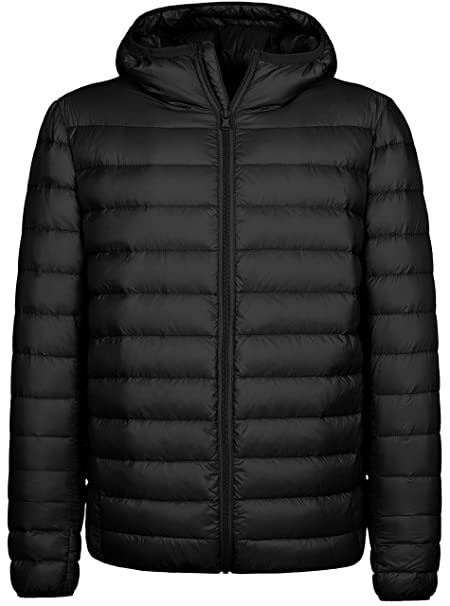 64de32c20 Wantdo Men's Hooded Packable Light Weight Down Puffer Jacket