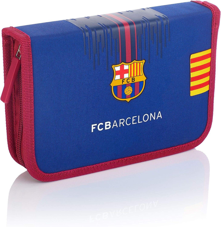 FC Barcelona FC-234 Barcelona Barca Fan - Estuche con Accesorios (2 Compartimentos, 20 cm), Color Azul Marino: Amazon.es: Equipaje