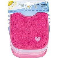 Bieco Baby- och småbarnshaklapp i fantastiska färger för pojkar, flickor och neutral, dubbelsidig med bomull på…